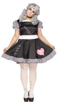 Women's Broken Doll Costume - Adult 2X (22 - 24W)