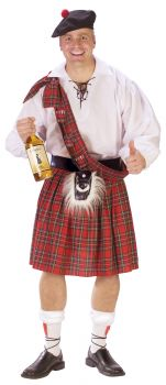 Big Shot Scot Costume - Adult Plus Size