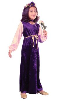 Flower Princess Velvet - Child M (8 - 10)