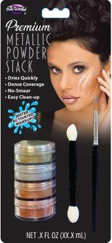 Metallic Water-Activated Makeup Stacks