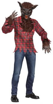 Werewolf Costume - Brown - Adult OSFM