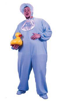 Men's Plus Size PJ Jammies - Blue - Adult Plus Size