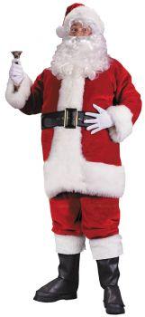 Men's Plus Size Premium Plush Red Santa Suit - Adult XL (50 - 54)