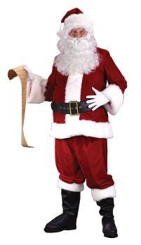 Men's Plus Size Ultra Velvet Santa Suit - Adult XL (50 - 54)