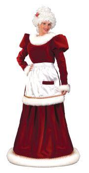 Women's Mrs. Santa Velvet Dress - Adult M/L (8 - 14)