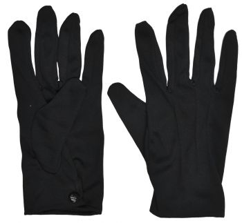 Theatrical Gloves With Snap - Black