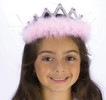 Tiara Marabou Diamond - Pink