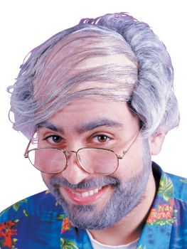 Combover Wig - Gray