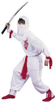 White Ninja Deluxe - Child M (8 - 10)