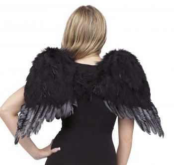 Angel Wings Feather - Black