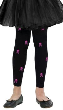 Tights Footless Bones - Child S (4 - 6)