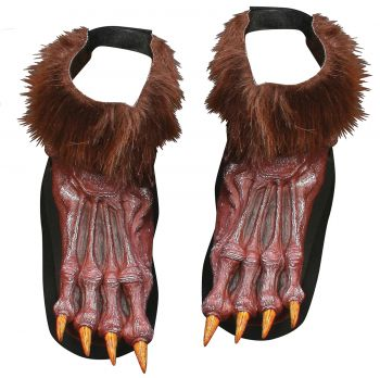Men's Werewolf Shoe Covers - Brown