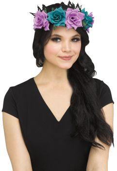 Fanasty Fairy Floral Crown - Adult - Black/Purple