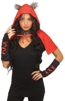 Edgy Red Hood Instant Kit - Adult