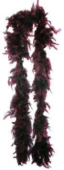 6' Gothic Feather Boa - Burgundy
