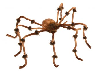 """Giant Plush Brown Spider - 20"""""""