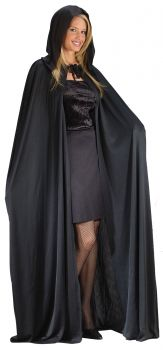 "68"" Hooded Cape - Black"