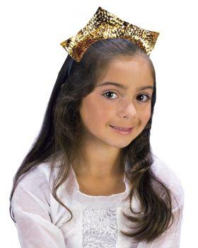 Sparkling Sequin Tiara - Gold