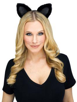 Cat Headband Black