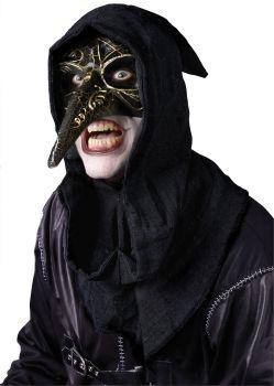 Men's Raven Venetian Mask - Black