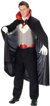 Deluxe Vampire Costume - Red - Adult OSFM
