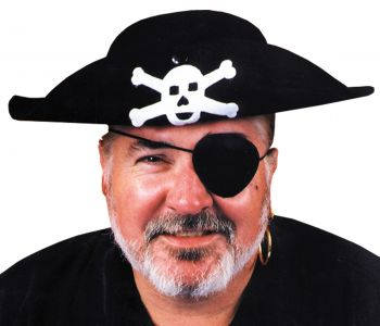"Pirate Hat Quality - Hat Size L (23"" C)"
