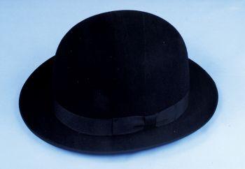 """Derby Hat Felt Quality - Black - Hat Size S (21 3/8"""" C)"""