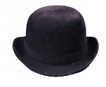 """Derby Hat Black Felt - Hat Size L (23"""" C)"""