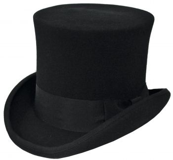 "Deluxe Quality Tall Hat - Black - Hat Size L (23"" C)"