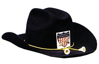 """Civil War Officer Hat Quality - Blue - Hat Size L (23"""" C)"""