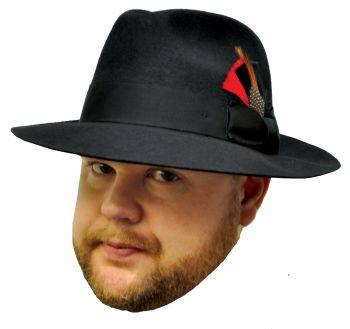 """Gangster Hat - Black - Hat Size S (21 3/8"""" C)"""