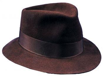 """Fedora Deluxe Brown - Hat Size S (21 3/8"""" C)"""