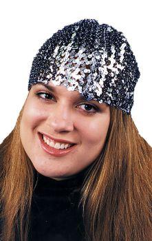Cloche Hat Sequin - Black