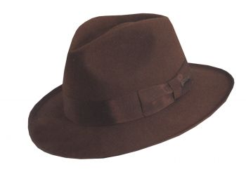 """Indiana Jones Hat Deluxe - Hat Size M (22 ½"""" C)"""
