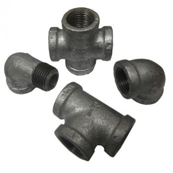 Galvanized Pipe Fittings (1/2 NPT)