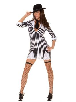 Woman's Gangster Costume - Adult M (6 - 10)