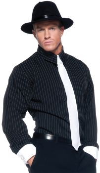 Gangster Shirt Striped Ad Std