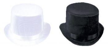 "Top Hat Trans Silk Black - Hat Size L (23"" C)"