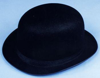 """Derby Hat Felt - Black - Hat Size L (23"""" C)"""