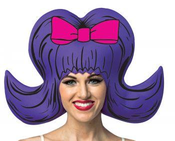 Comic Bouffant Foam Wig - Purple