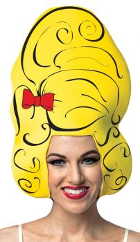 Comic Beehive Foam Wig - Yellow