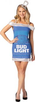 Women's Bud Light Can Dress - Adult L/XL