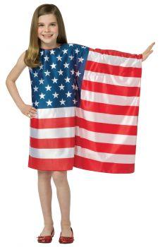 USA Flag Dress - Child (7 - 10)