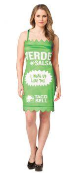 Taco Bell Packet Dress - Verde - Adult M/L
