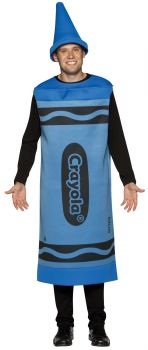 Crayola Crayon Adult Costume - Blue - Adult L/XL (42 - 48)
