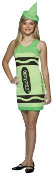 Teen Crayola Crayon Tank Dress - Green - Teen (14 - 16)