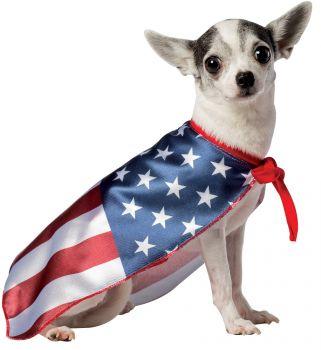 USA Flag Cape Dog Costume - Pet Large