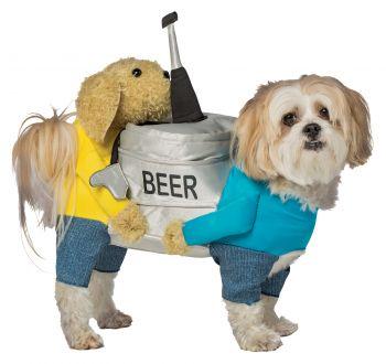 Beer Keg Dog Costume - Pet L/XL