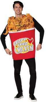 Bucket Of Fried Chicken Adult Costume