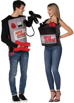 Battery & Jumper Cables Couple Costume - Adult